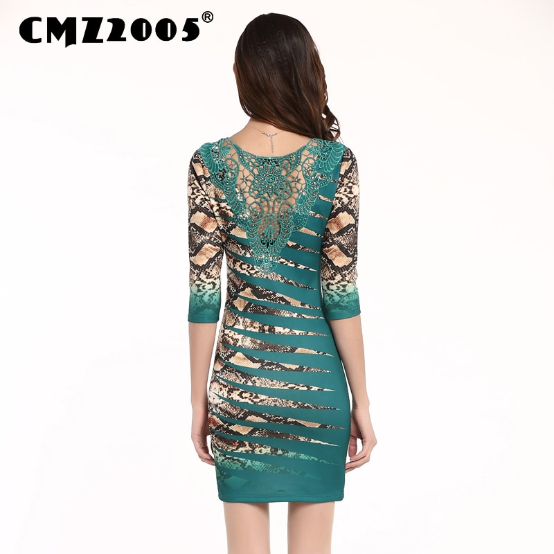 Hot Sale Women's Apparel High-Quality Splicing Half Sleeves Round Neck Mini Fashion Sexy Autumn Dress Personality Dresses 69153 3
