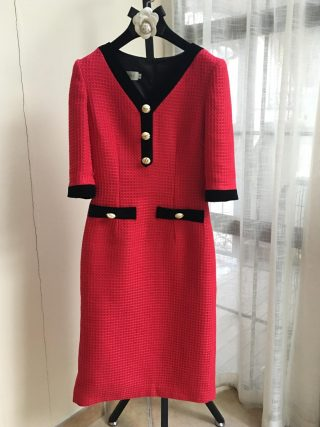 France style OL elegant half sleeves dress Brand new high quality women's high-rise dress B494