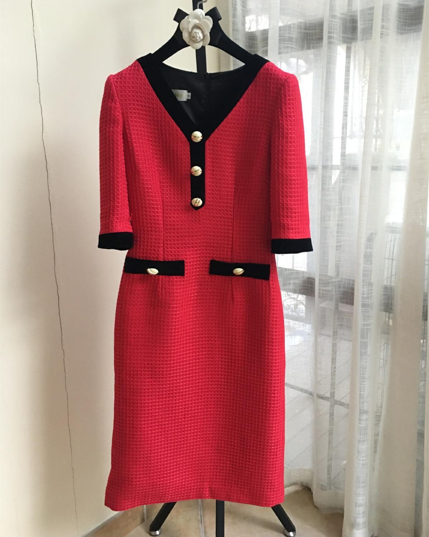 France style OL elegant half sleeves dress Brand new high quality women's high-rise dress B494