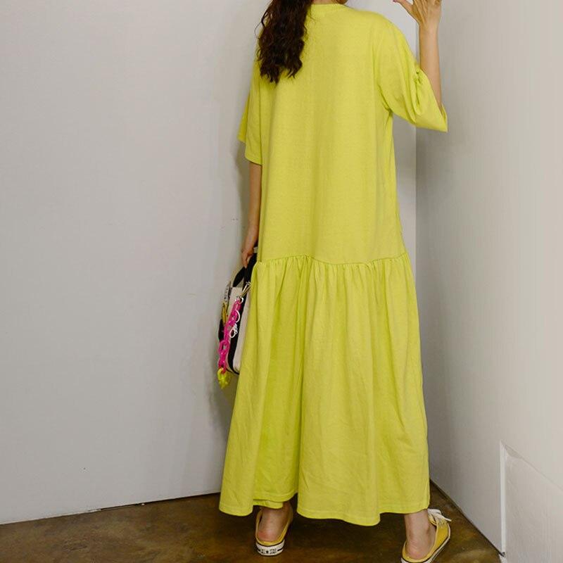 RealShe Women Maxi Dress O-Neck Short Sleeve Loose Long Dress Elegant Spring Casual Women Dress  Summer Dresses Casual 2