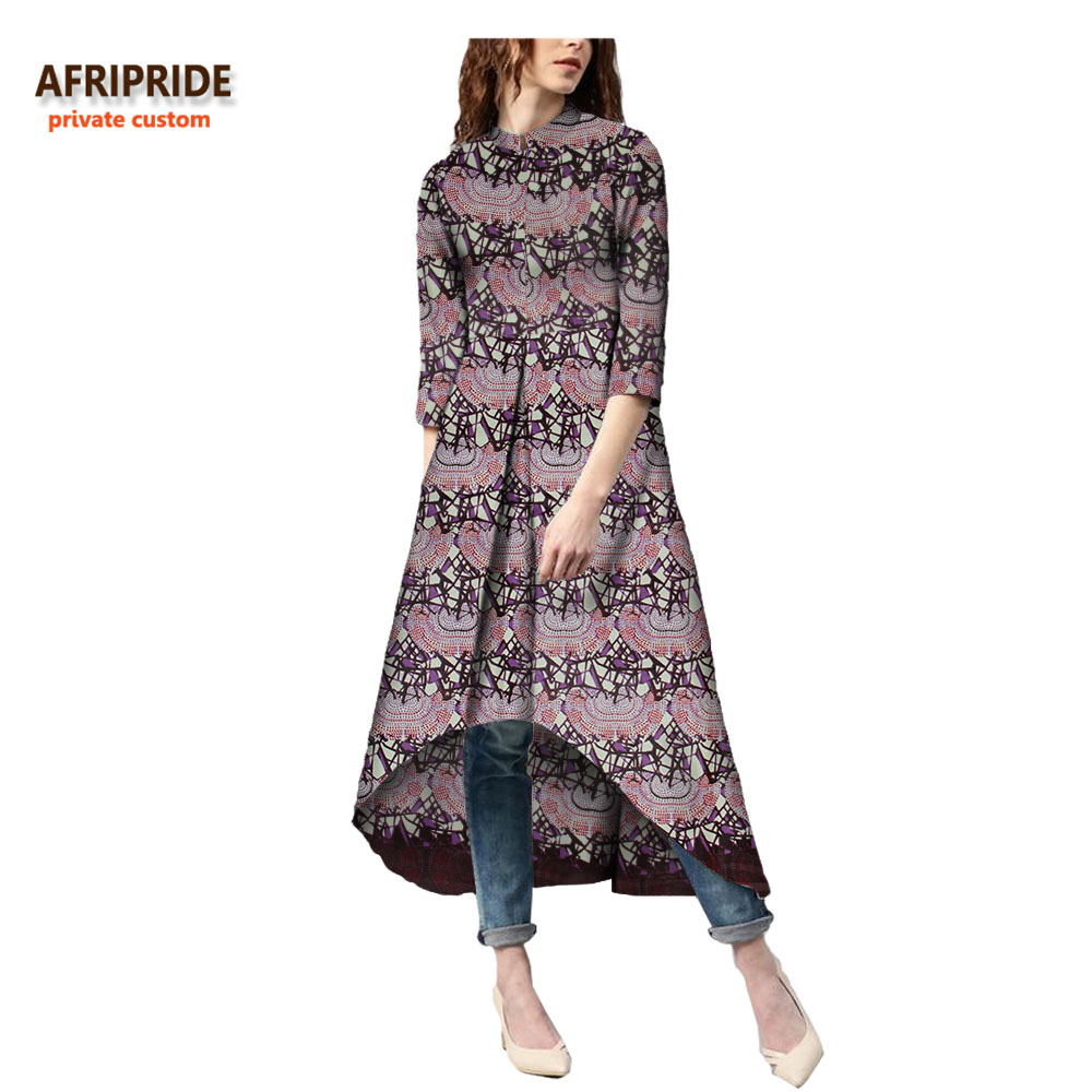 18 autumn african dress for women Private Custom half sleeve mid-calf length no lining casual dress 100% batik cotton A7225114 2
