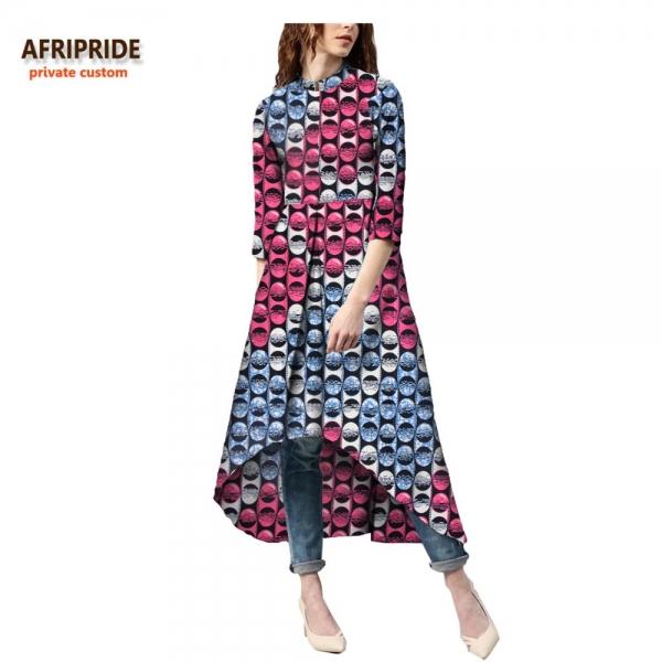 18 autumn african dress for women Private Custom half sleeve mid-calf length no lining casual dress 100% batik cotton A7225114