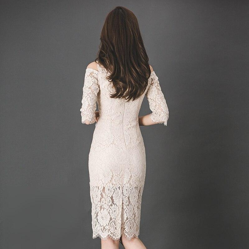 Summer Dress 18 Women Dress Lady Half Sleeve Sexy Bodycon Dress Elegant Skinny Floral Pattern Lace Dresses Slim Vestido Party 3
