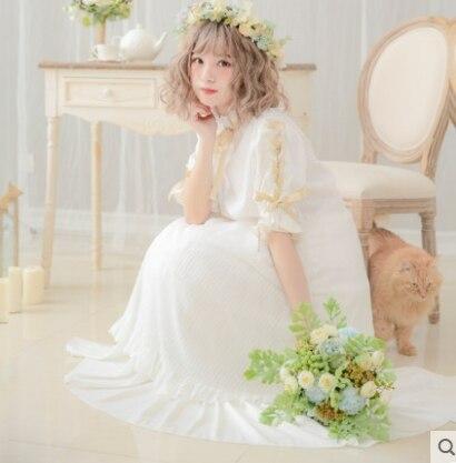Princess sweet lolita dress Dolly Delly Japanese sweet soft sister dress stripe mesh Lolita half sleeves Dress Dolley-00148 1