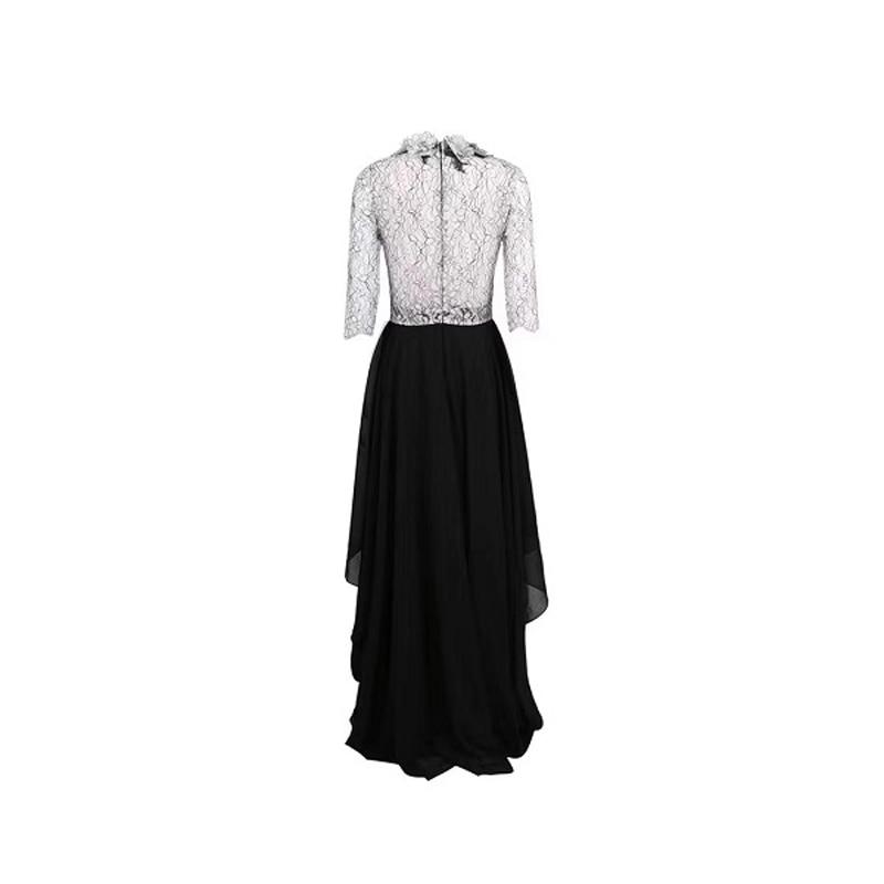 Elegant New Design Patchwork Half Sleeve Chiffon Maxi Dress Women Celebrity Party Dress Vestidos Wholesale 19 3