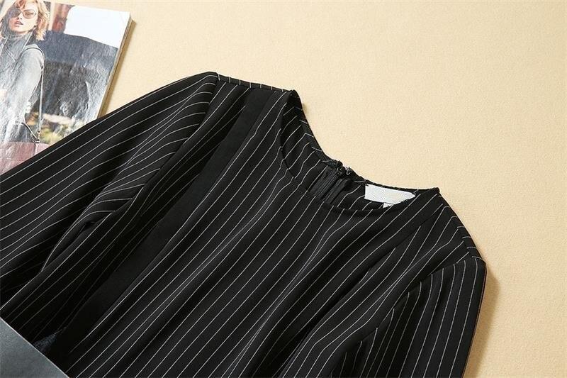 Women Dresses 19 High Quality Newest Designer Runway O-Neck Half Sleeve Patchwork Lace Elegant Dress Casual Dresses NP0762J 3
