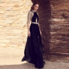 Elegant New Design Patchwork Half Sleeve Chiffon Maxi Dress Women Celebrity Party Dress Vestidos Wholesale 19