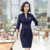 18 Summer Office Dresses For Women Elegant Business Half Sleeve Pencil Dress Ladies Casual Sretch Work Dresses D0176