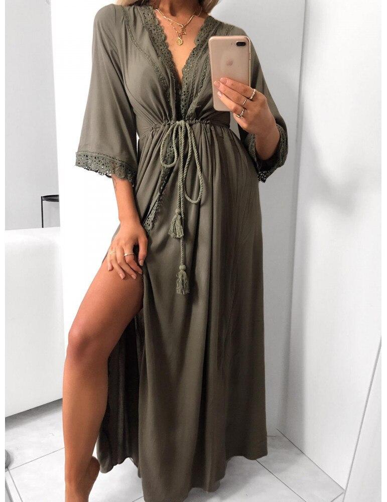 Beach Dresses And Tunics Chic Plus Size Long Designer Bodycon Dress For Woman 19 Boho Trendy Clothing Summer Sukienka Maxi 3