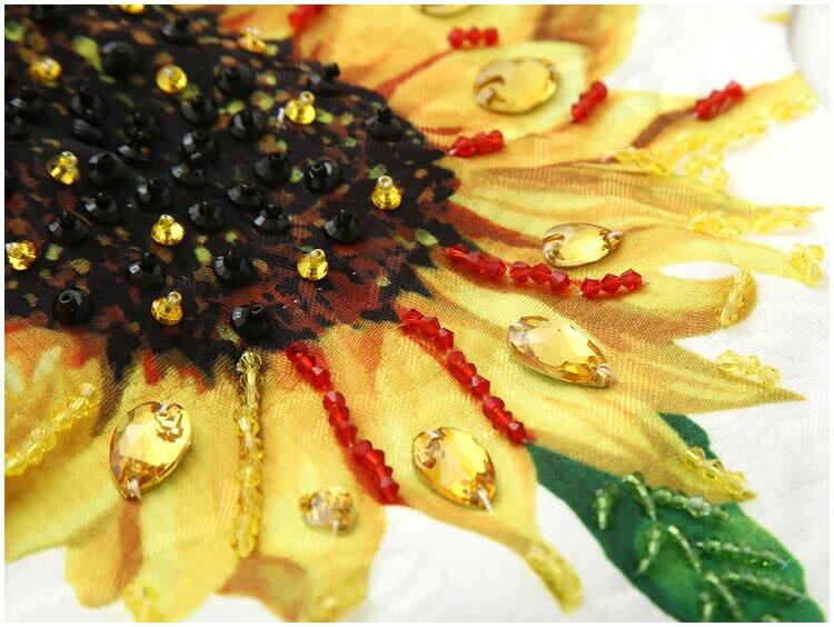 New 19 autumn winter women elegant party dress night jacquard floral beading a-line half sleeve elegant yellow dresses 3