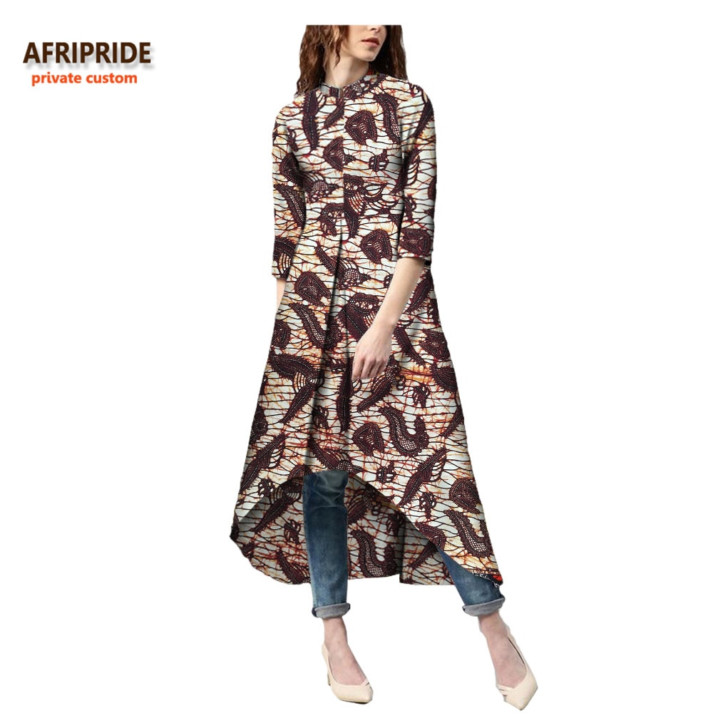 18 autumn african dress for women Private Custom half sleeve mid-calf length no lining casual dress 100% batik cotton A7225114 3