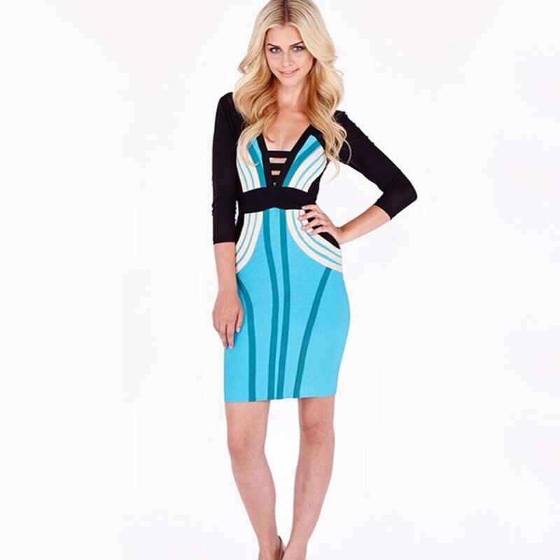 SEXYBOUTIQUE half sleeve women bandage dress bodycon prom party dress 2