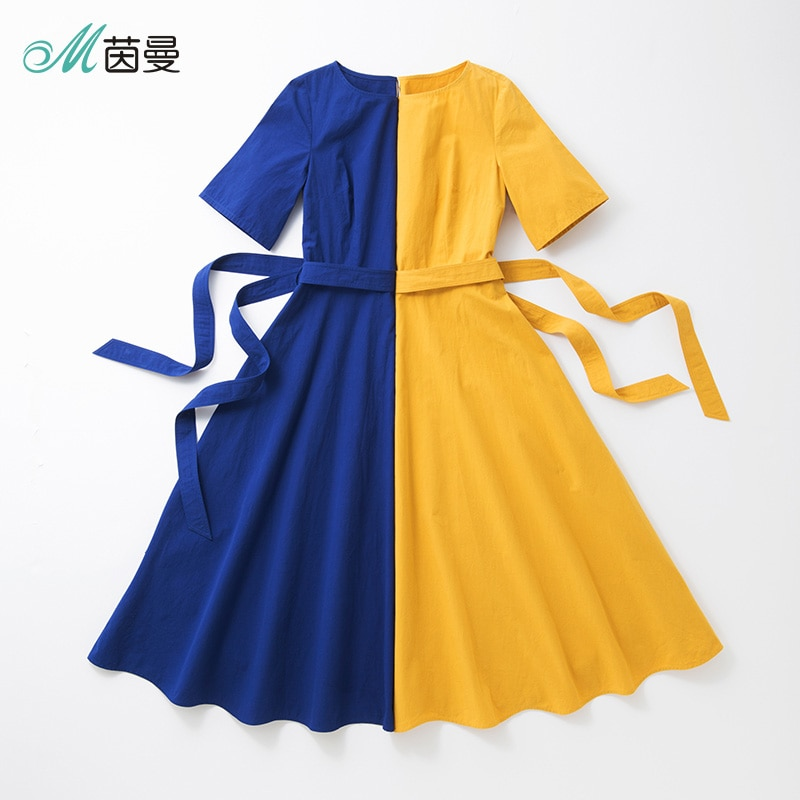 INMAN A line Half Sleeve Woman Mid-Calf Dress Summer Elegant Ladies Dress Woman Girl Causal Long Dress 3