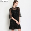 summer Voile Dress women clothing black Ruffled flare half Sleeve mini dress High Quality Plus Size 5XL 4XL 3XL 2XL XL L M