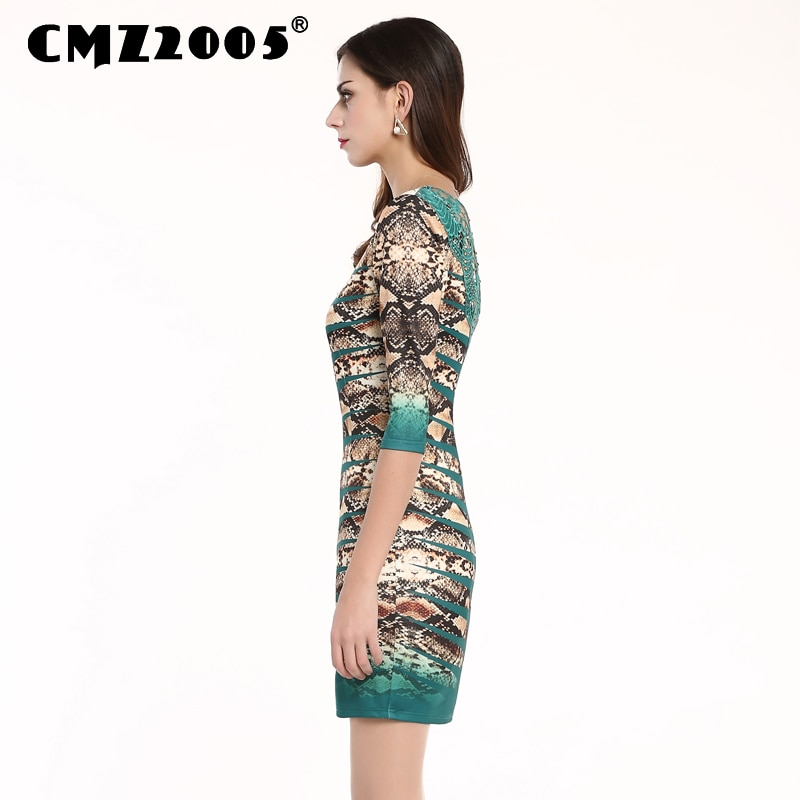 Hot Sale Women's Apparel High-Quality Splicing Half Sleeves Round Neck Mini Fashion Sexy Autumn Dress Personality Dresses 69153 2