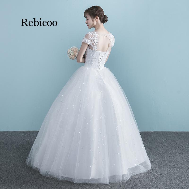 Women Dress Plus Size High Waist One Shoulder Half And Short Sleeve Pregnant Bride Dress Vestidos De Novia 2