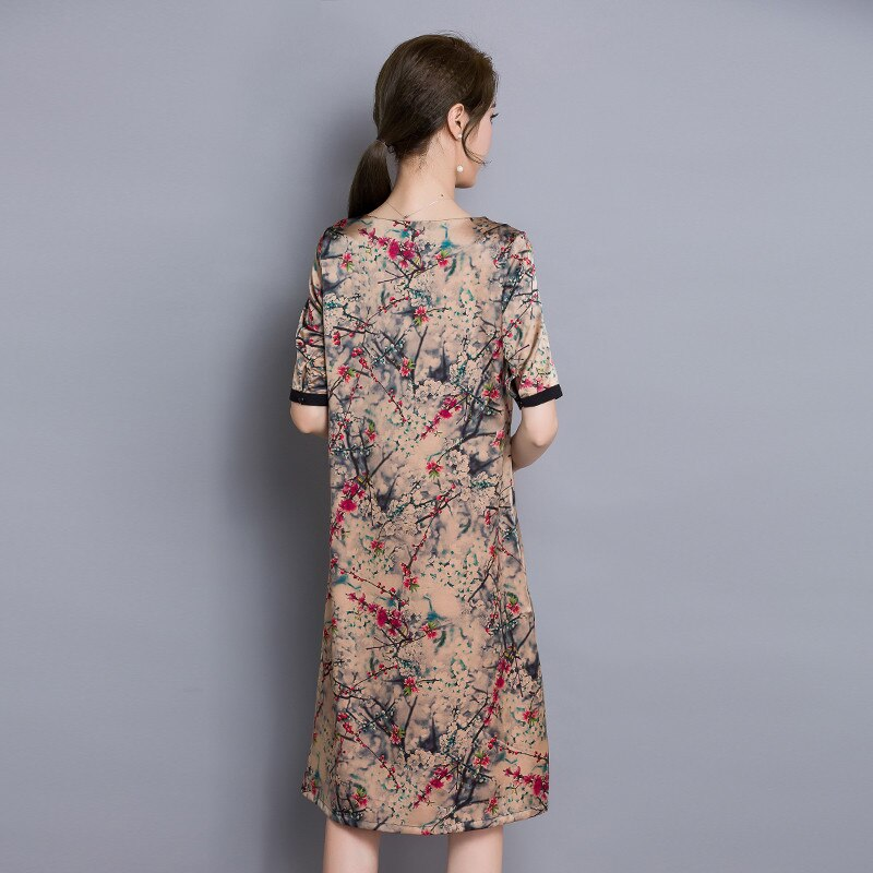 Half Sleeve Floral Women Summer Dress 19 Women Clothing High Quality Vestidos Vintage Dress Plus size 4XL Ladies DressesFYY345 2