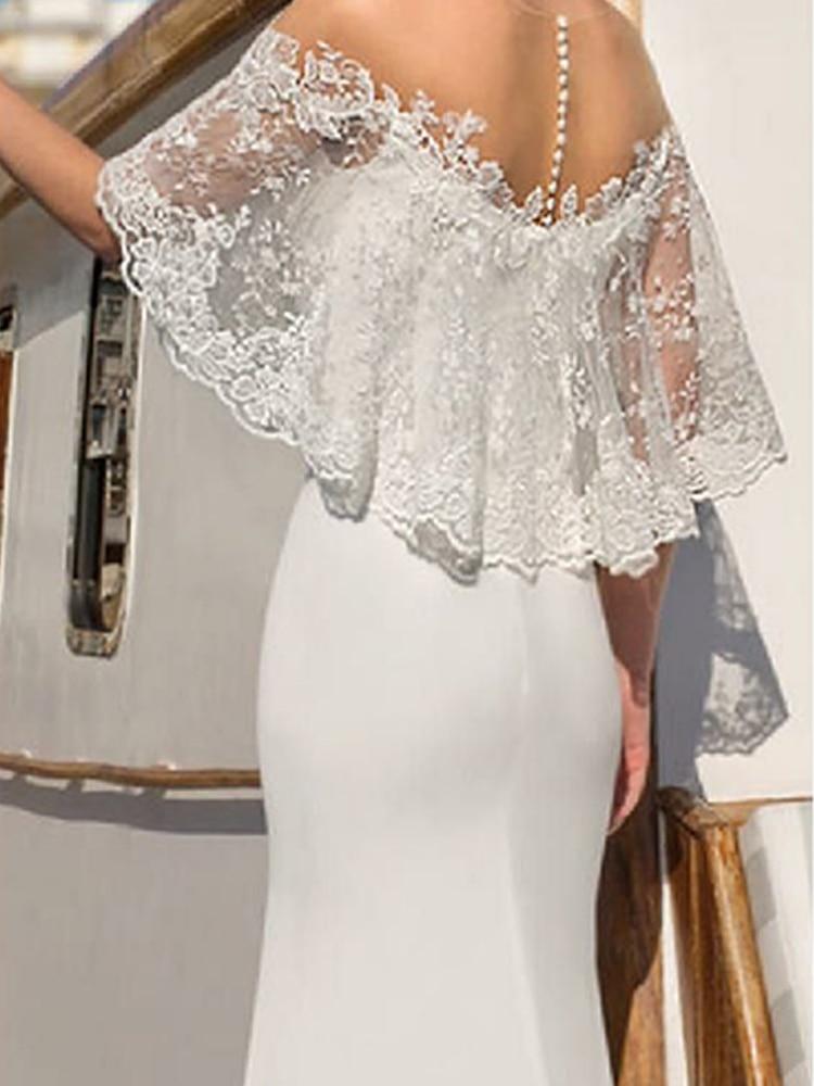 Summer Sexy Lace Shawl V-neck White Elegant Dinner Long Dress Women Maxi Dresses Women's Clothing White Party 3