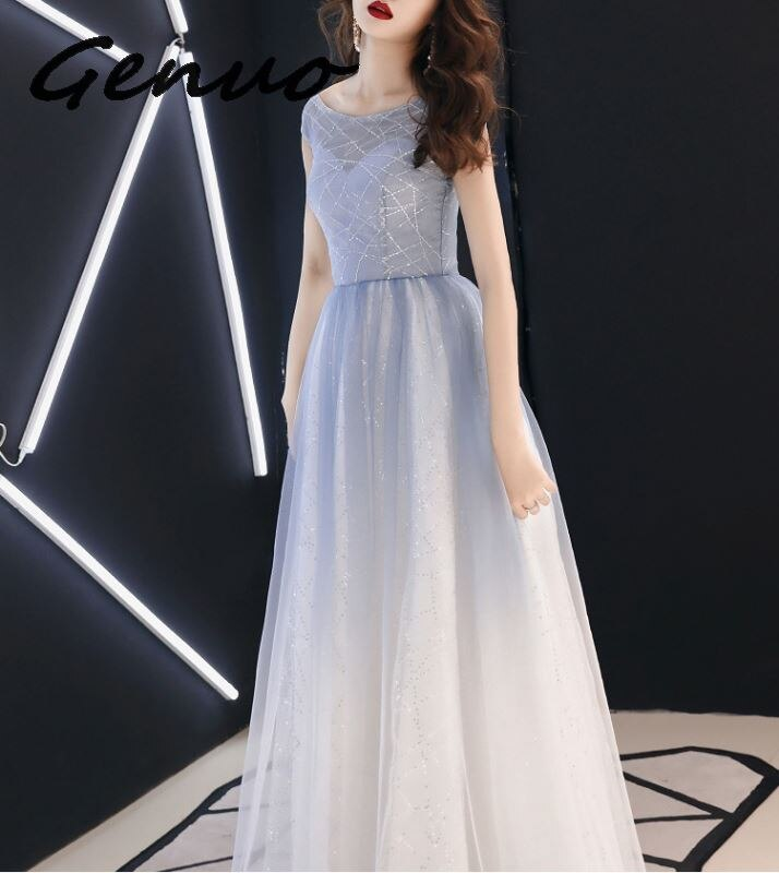 Genuo New elegant one shoulder bandage bodycon dress Women sexy half sleeve party dress 19 knee length black dresses vestidos 2