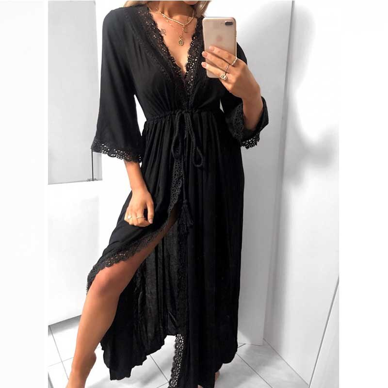 Beach Dresses And Tunics Chic Plus Size Long Designer Bodycon Dress For Woman 19 Boho Trendy Clothing Summer Sukienka Maxi 1