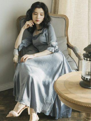 Preppy Style Goddess British Style Vintage 50s60s Dress Ruffle Half Sleeve Women Retro Dress Party Vestidos