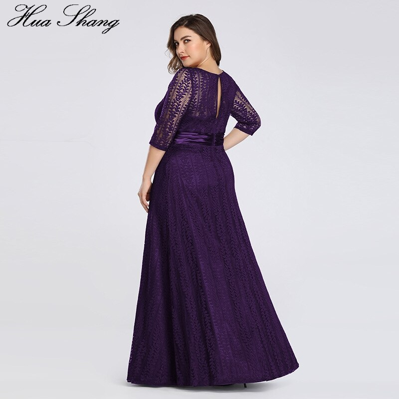 Lace Party Dress Plus Size Women 19 Fashion Female Half Sleeve High Waist Formal Party Dress Floor Length Long Maxi Dresses 3