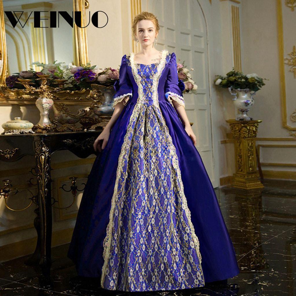 Vestidos Long Dress 19Top New Fashion Womens Gothic Vintage Dress Steampunk Retro Court Princess Half Sleeve Dress Robe Femme 3