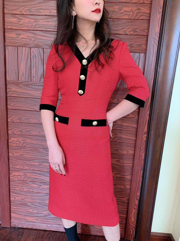 France style OL elegant half sleeves dress Brand new high quality women's high-rise dress B494 2
