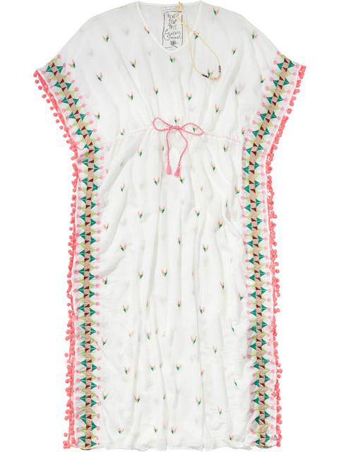 Embroidery Floral Half Sleeve Midi Fall Dress V Neck Sexy Bohemian Casual Spring Women Drawstring Tassel Tunic Dress 3