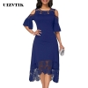 Summer Autumn Dress Women 19 Casual Plus Size Slim White Lace Maxi Dresses Elegant Vintage Sexy Off Shoulder Long Party Dress