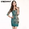 Hot Sale Women's Apparel High-Quality Splicing Half Sleeves Round Neck Mini Fashion Sexy Autumn Dress Personality Dresses 69153