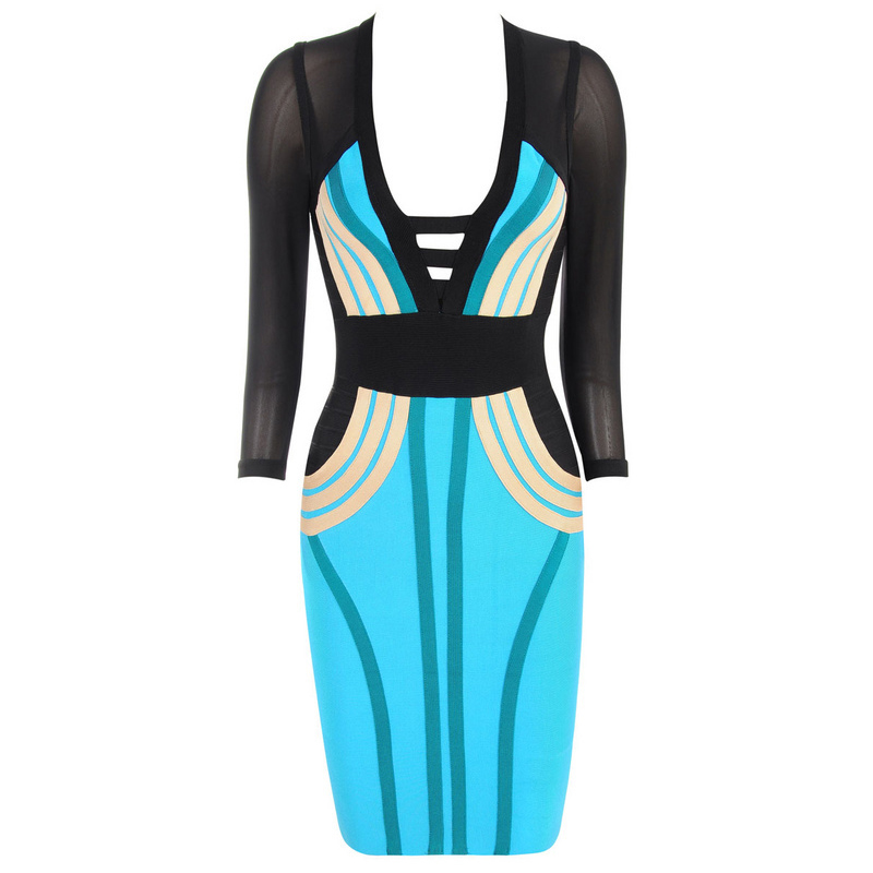 SEXYBOUTIQUE half sleeve women bandage dress bodycon prom party dress 3