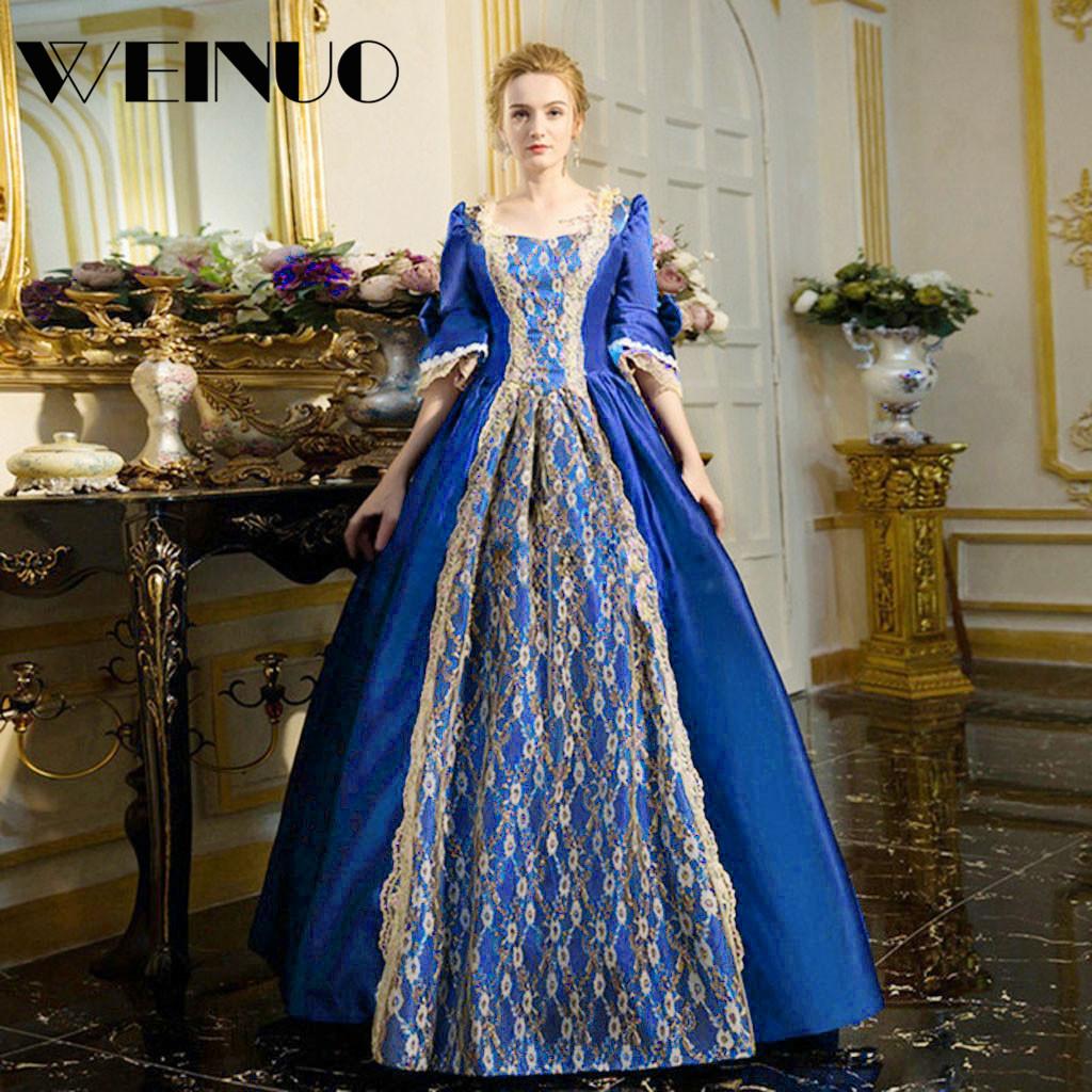 Vestidos Long Dress 19Top New Fashion Womens Gothic Vintage Dress Steampunk Retro Court Princess Half Sleeve Dress Robe Femme 1