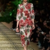 Spring summer runways floral print half sleeves dress high quality women's elegant dress B9