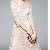 Party Dress O-Neck Round Neck A-Line Lace Dress Half Sleeve Knee Length 19 New Arrival Spring Women Party Dress O-Neck Round Neck A-Line Lace Dress Half Sleeve Knee Length Casual Dress