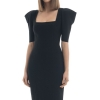 Summer Dress Women Sexy Half Sleeve Knee Length Black Bandage Dress 19 Ladies Designer Elegant Party Dress