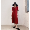 Vintage Ladies Red Dress Sexy Women Summer Autumn Half Sleeve Elegant Party Dresses 19 Sundress Female Festa Vestidos