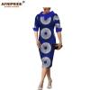 18 summer&autumn casual women pencil dress african wax print AFRIPRIDE tailor made half sleeve mid-calf length dress A1825055
