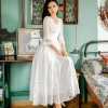 Summer New Palace Princess Lace Dress Retro Art Fashion Temperament Half Sleeve Mid-length Women Retro Dress Party Vestidos