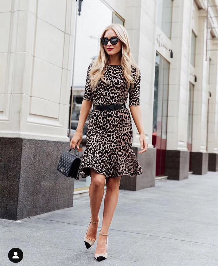 High Quality Summer Dress Women Sexy Half Sleeve Leopard Party Dress 19 Elegant Fishtail Bodycon Dress 1