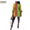 19 autumn african women dress AFRIPRIDE private custom flare sleeve above-knee length dress for women 100% pure cotton A722570