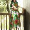 Hisenky 19 Mori Girl Half Sleeve Mandarin Collar Vintage Dress Plus Size Summer Maxi Dresses Long Women Dress Loose Vestidos