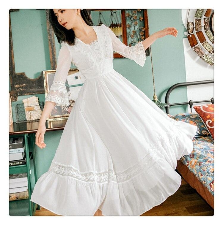 Summer New Palace Princess Lace Dress Retro Art Fashion Temperament Half Sleeve Mid-length Women Retro Dress Party Vestidos 2