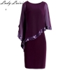 Vestidos Summer Formal Dress 19 Fashion Solid Chiffon Half Batwing Sleeve Sequined Bodycon Female Pencil Office OL Women Dress