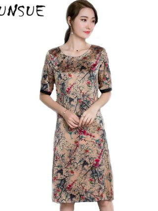 Half Sleeve Floral Women Summer Dress 19 Women Clothing High Quality Vestidos Vintage Dress Plus size 4XL Ladies DressesFYY345