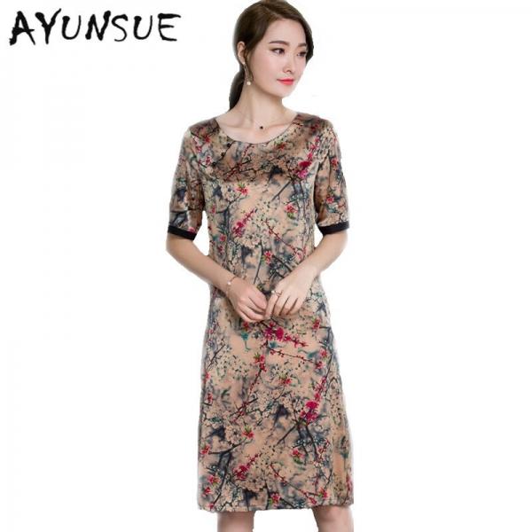 Half Sleeve Floral Women Summer Dress 19 Women Clothing High Quality Vestidos Vintage Dress Plus size 4XL Ladies DressesFYY345