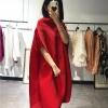 Miyake fold half sleeve dress slash neck solid batwing sleeve loose dress IN STOCK