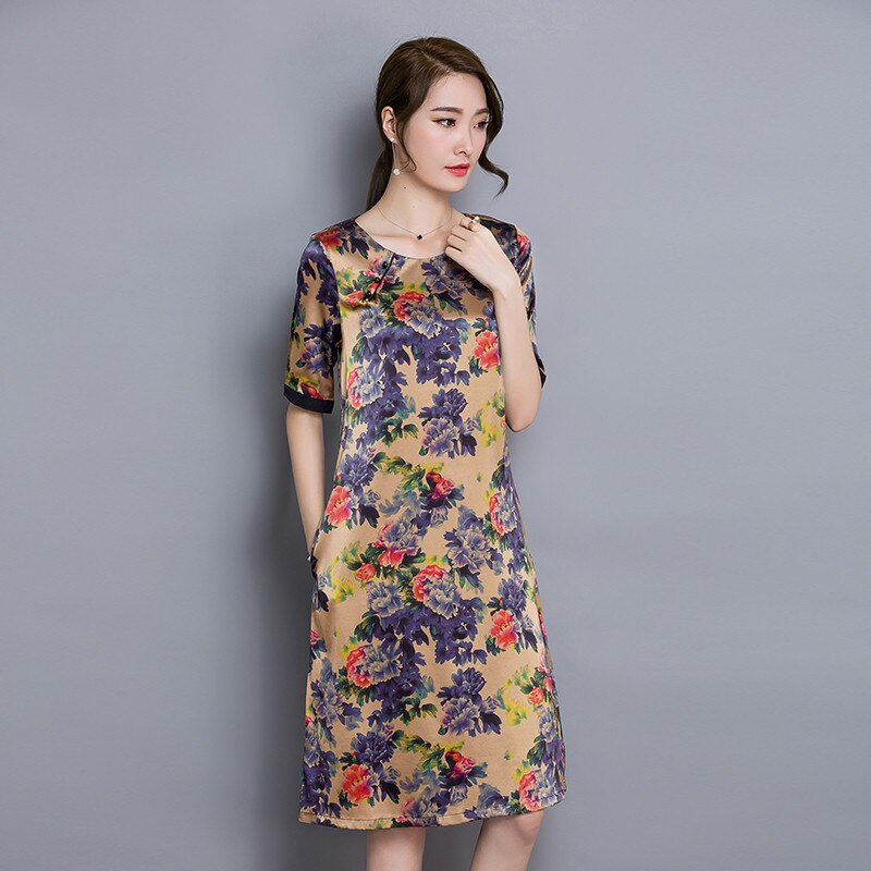 Half Sleeve Floral Women Summer Dress 19 Women Clothing High Quality Vestidos Vintage Dress Plus size 4XL Ladies DressesFYY345 3