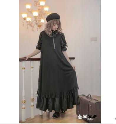 Princess sweet lolita dress Dolly Delly Japanese sweet soft sister dress stripe mesh Lolita half sleeves Dress Dolley-00148 2