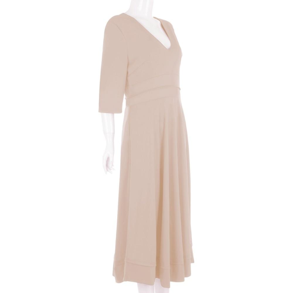 19 Elegant Evening Party Gown Dress for Women Sexy V Neck Half Sleeves High Waist Pocket Dress Pleated Swing Midi Dress Women 3